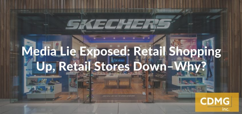 Media Lie Exposed: Retail Shopping Up, Retail Stores Down–Why?