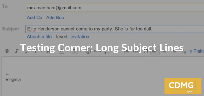Testing Corner: Long Subject Lines