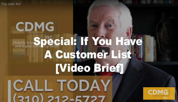 Special: If You Have A Customer List [Video Brief]