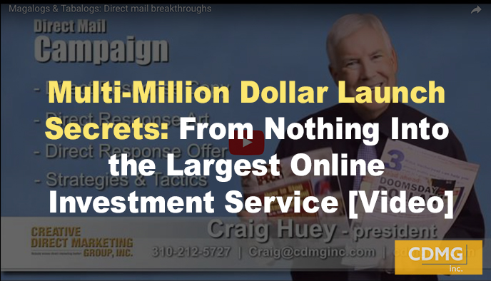 Multi-Million Dollar Launch Secrets: From Nothing Into the Largest Online Investment Service [Video]