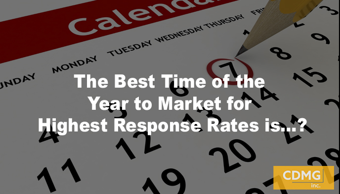 The Best Time of the Year to Market for Highest Response Rates is…?