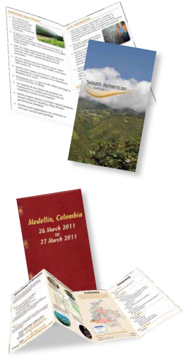 The passport-style itinerary and brochure used direct response techniques to engage prospects and reinforce the exclusive nature of this personal invitation.
