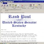 Rand Paul's Email