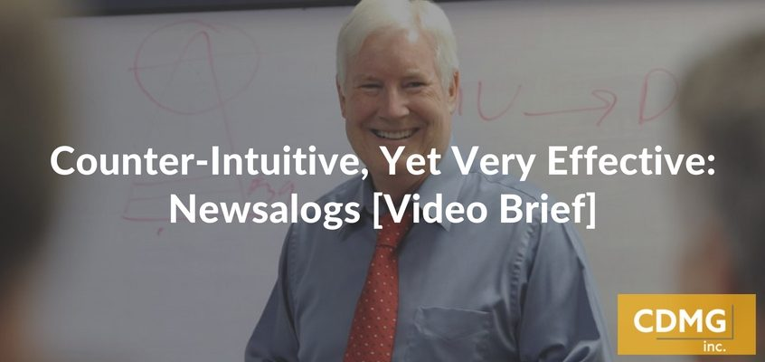 Counter-Intuitive, Yet Very Effective: Newsalogs [Video Brief]