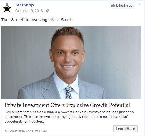 StarShop Facebook Ad