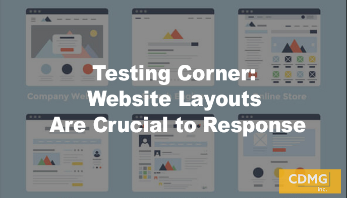 Testing Corner: Website Layouts Are Crucial to Response