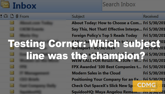 Testing Corner: Which subject line was the champion?