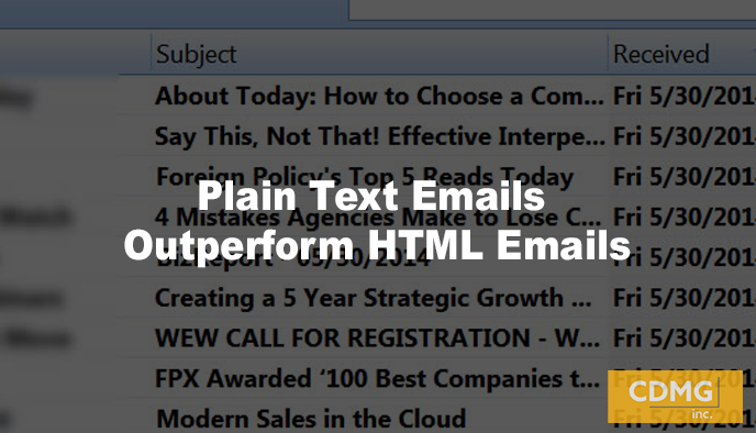 Plain Text Emails Outperform HTML Emails