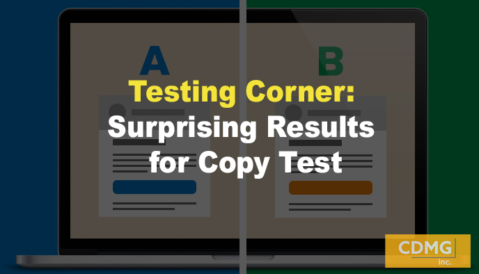 Testing Corner: Surprising Results for Copy Test