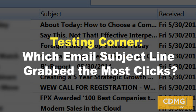 Testing Corner: Which Email Subject Line Grabbed the Most Clicks?