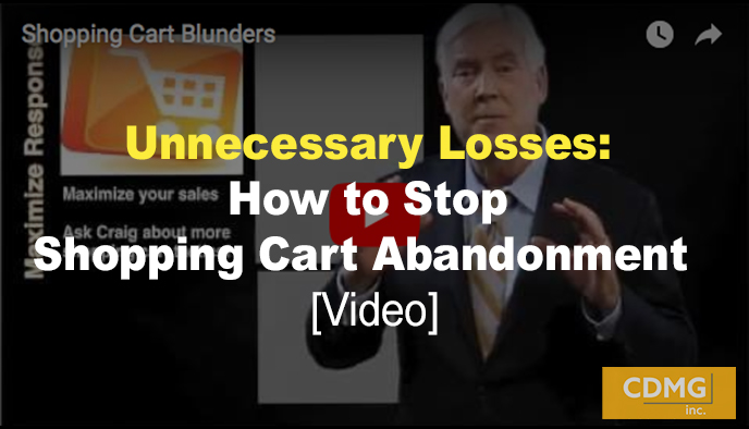 Unnecessary Losses: How to Stop Shopping Cart Abandonment [video]