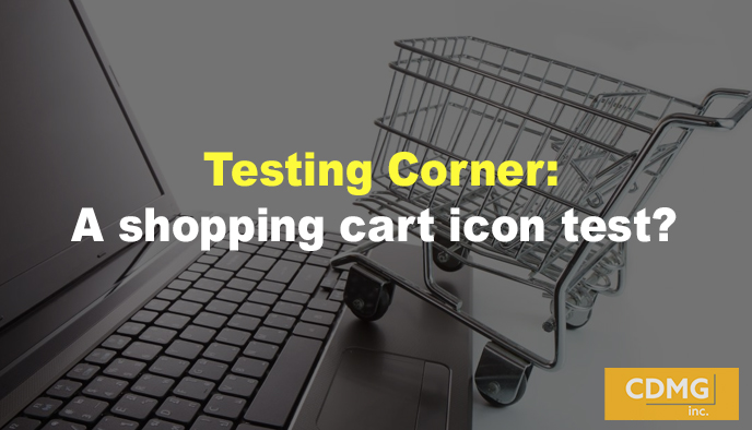 Testing Corner: A shopping cart icon test?