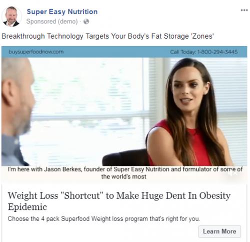 superfood facebook ad
