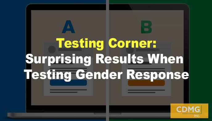 Testing Corner: Surprising Results When Testing Gender Response