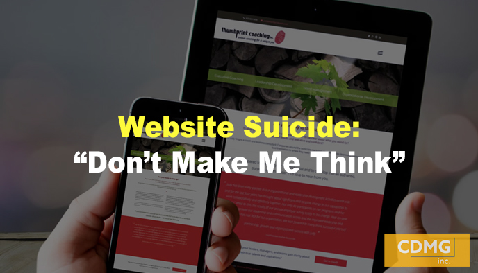 "Website Suicide: ""Don't Make Me Think"""