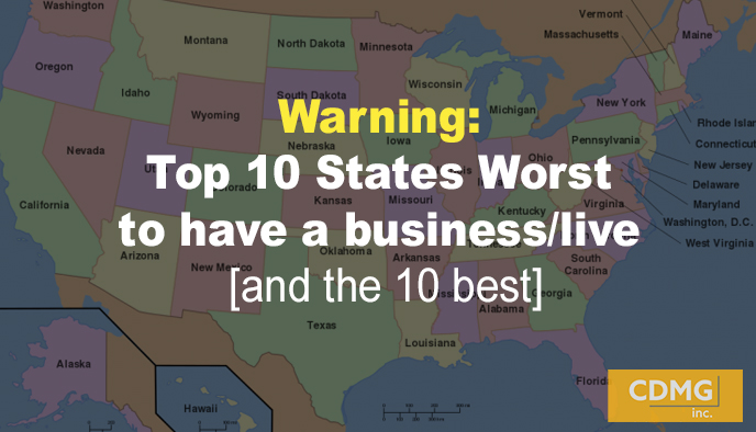 Warning: Top 10 States Worst to have a business/live [and the 10 best]