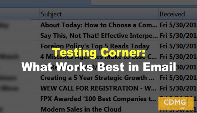 Testing Corner: What Works Best in Email