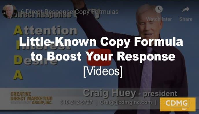 Little-Known Copy Formula to Boost Your Response [video]