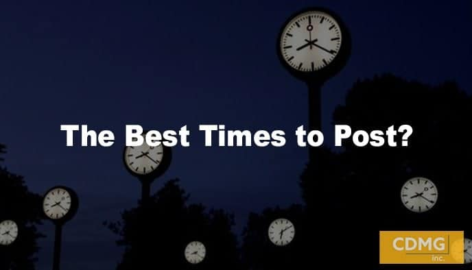 The Best Times to Post?