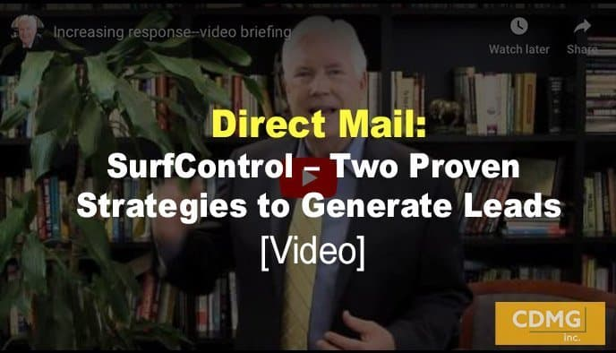 Direct Mail: SurfControl – Two Proven Strategies to Generate Leads [video]