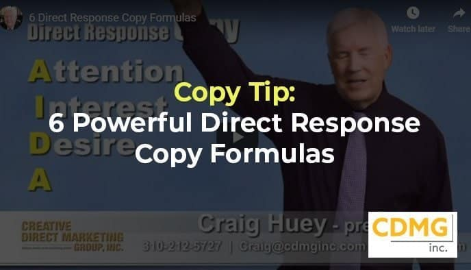 Copy Tip: 6 Powerful Direct Response Copy Formulas