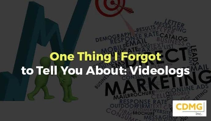 One Thing I Forgot to Tell You About: Videologs
