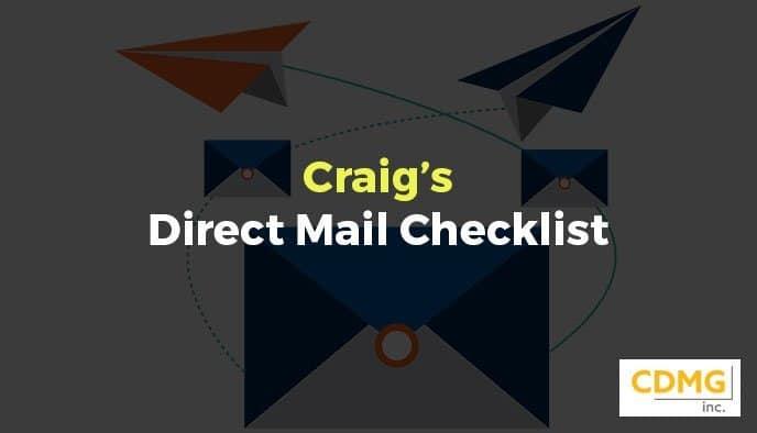 Craig's Direct Mail Checklist