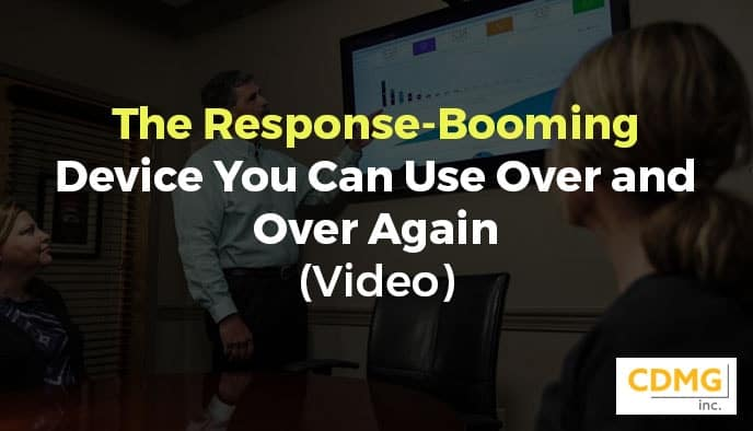 The Response-Booming Device You Can Use Over and Over Again (Video)