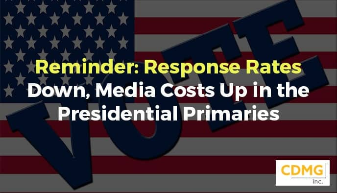 Reminder: Response Rates Down, Media Costs Up in the Presidential Primaries